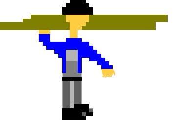 Original day laborer version I created via an app called Pixelart on iPad