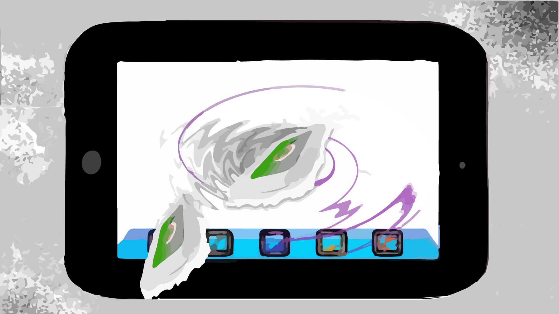 Apple iPad design of an iPad I created using an iPad and later Adobe Illustrator